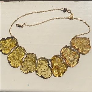 Jewelry - Uncommon Goods Amber Resin Statement Necklace